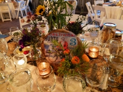 Warm and inviting table setting